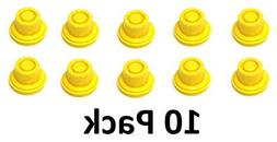 10 Pack Replacement Yellow SPOUT CAPS Top Hat Style fits # 9