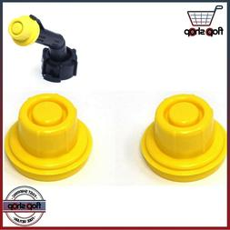 2 Pack Blitz Replacement Yellow Gas Can Spout Cap fits self