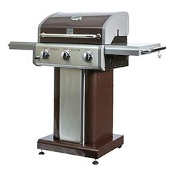 MRT SUPPLY 3 Burner 30000 BTU Propane Patio BBQ Pedestal Gri