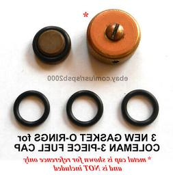 3 new gas cap gasket O-rings for COLEMAN fuel filler cap, st
