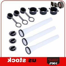 3 Sets Replacement Gas Fuel Can Spouts Cap Parts Kit Blitz R