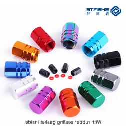 SHEATE 4PCS 11 colorful Car Tire Wheel Valve <font><b>Cap</b