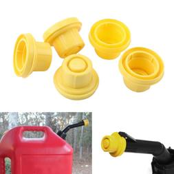 5x YELLOW Spout Cap Top For BLITZ Fuel Gas Can 900302 900092