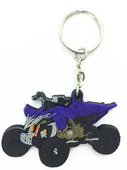 Decal Story Rubber Key Chain Ring Fob Holder For Yamaha ATV