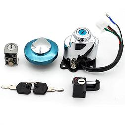 FXCNC Racing CNC Scooter 4 Wire Ignition Switch Fuel Gas Cap