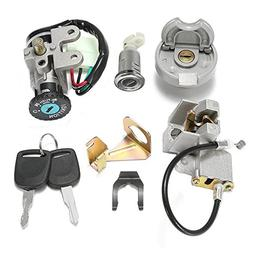 GY6 50cc Ignition Switch Key Lock Gas Tank Cap Set for Scoot