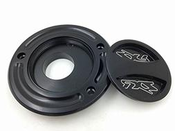 HTT Group Motorcycle Black Keyless Gas Cap Twist Off Fuel Ta
