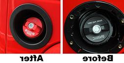 Highitem RED Aluminum Alloy inner Fuel Filler Cover Gas Tank