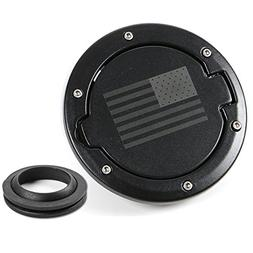 IPARTS Powder Coated Black Steel Gas Fuel Tank Cap Cover for