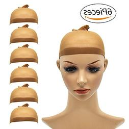 Natural Nylon Brown Wig Cap - for Kids,Girl and Women Includ
