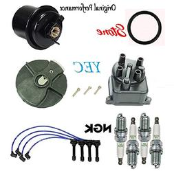Tune Up Kit Gas Filter Cap Rotor NGK Wires & Plugs for Honda