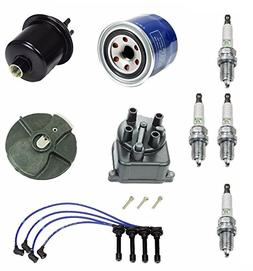 Tune Up Kit Oil Gas Filter Cap Rotor NGK Wires & Plugs Acura
