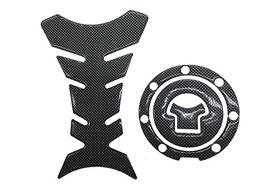 Carbon Look Firber Motor Gas Cap Tank Pad Sticker For Honda
