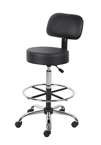 Boss Office Be Well Medical Drafting Stool with Black