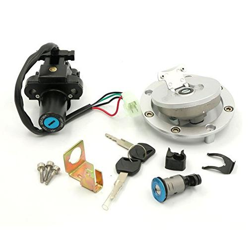 Fuel Gas Cap Cover Ignition Switch Seat Lock Key Set For Hon