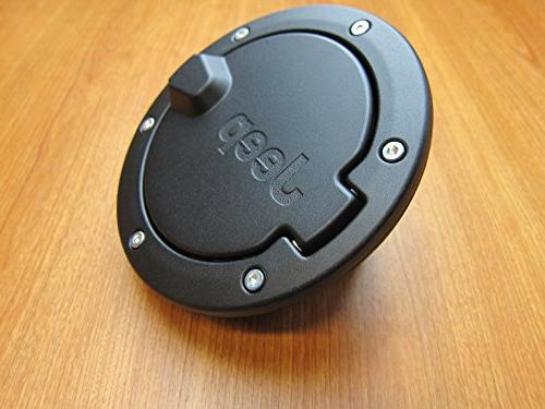 Jeep Wrangler Satin Gas Cap Fuel Door