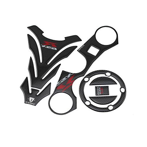 PRO-KODASKIN Carbon GSXR Gas Cap Tank Pad Triple Tree Front End Upper Top  Clamp Decal Stickers Tank Pad Protector for GSXR 600 GSXR 750 GSXR 1000 K6