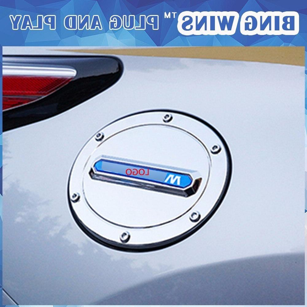 car styling abs chrome fuel tank cover