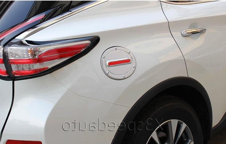 For Murano RED Fuel <font><b>Gas</b></font> 1pcs With Chrome Car-styling