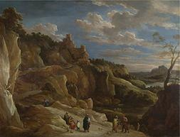 'David Teniers The Younger A Gipsy Fortune Teller In A Hilly