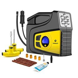 Portable Tire inflator with Tire Repair Kit, 12V DC 100PSI D
