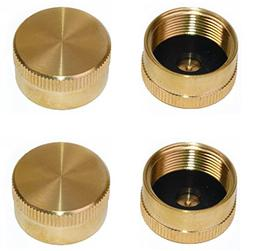 DozyAnt Pack of 4 Solid Brass Refill 1 LB Propane Bottle Cap