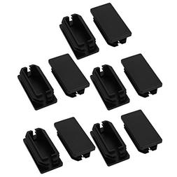 uxcell 10Pcs 25mmx50mm Black Plastic Rectangle Non Slip Caps