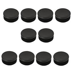uxcell 8 Pcs Chair Table Leg Plastic Cap Round Tube Insert F