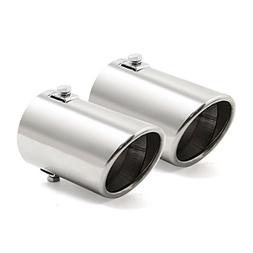uxcell Pair Universal Car Stainless Steel Chrome Exhaust Rea